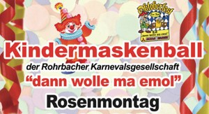 Kindermaskenball in Rohrbach @ Rohrbachhalle