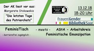 "After Work ""FeminisTisch"" Spezial @ FrauenGenderBibliothek Saar"