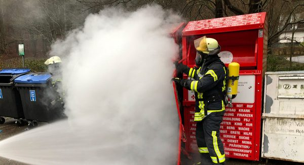 Containerbrand in Oberwürzbach