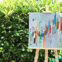 Eine Wiese voll mit Kunst