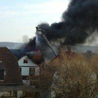 Dachstuhlbrand in der Beethovenstraße
