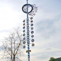 Maikranz hängt am Zunftbaum in Oberwürzbach