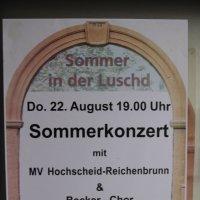 MV Hochscheid-Reichenbrunn und Becker-Chor in der Luschd