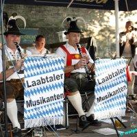 """Laabtaler Musikanten und Jagdhornbläser in der """"Luschd"""""""